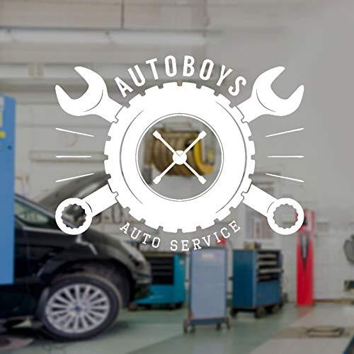 Tianpengyuanshuai Auto jongen auto service muur sticker vinyl interieur raamsticker garage winkel band gereedschap verwijderbaar