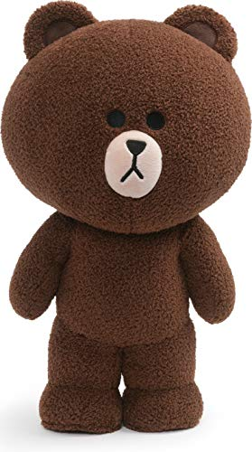 "GUND LINE Friends Brown Standing Plush Stuffed Animal Bear, Brown, 14"", 8.3"" L x 13.1"" W x 6.1"" H"