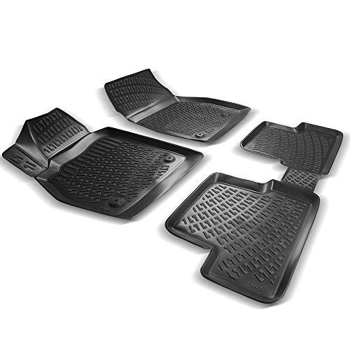 RE&AR Tuning Alfombrillas de coche para Opel Astra J 2009 – 2015, alfombrillas de goma inodoras, color negro, protección contra la suciedad y el barro, impermeables, específicas para vehículos