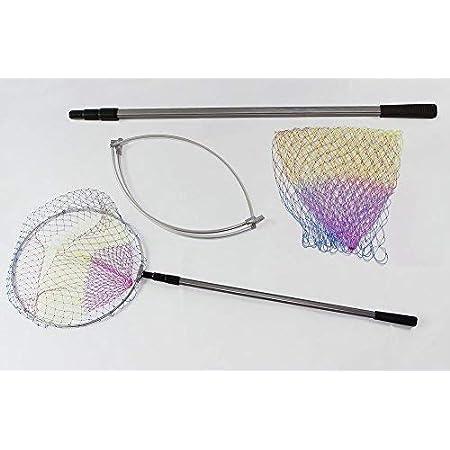 TOYANDONA 4 St/ück Edelstahl Angelkescher Kescher Teleskop Schmetterlingsnetze zuf/ällige Farbe