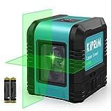 レーザー墨出し器 レーザーレベル 2線式 緑色 自動補正 傾斜モード 高輝度 耐落下性 IP54防塵防水 2年間の保証 Kiprim LV1D
