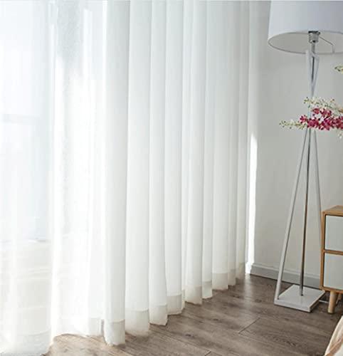 Cortinas de tela jacquard teñidas con hoja de arce para balcón, cortinas opacas térmicas de tul, 500 x 250 cm, 1 unidad, cinta plisada