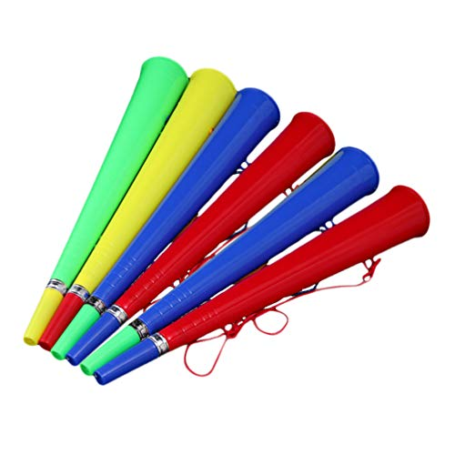 BESPORTBLE 6pcs Stadium Horn for Sports Games Football Soccer Ball Fan Party Favors Gifts 2020 Olympic World Championships (Random Color)