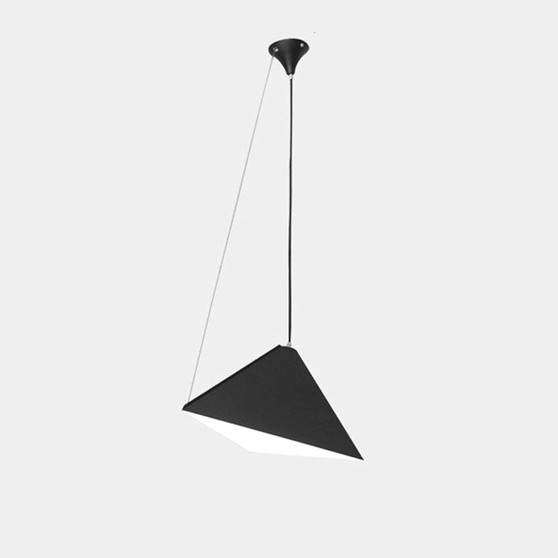 Moderne Art lumière Suspension Suspension créative Hauteur et Angle Réglable Lustre Triangulaire Design Géométrie Abat-Jour en Fer pour Salon Cuisine Salle à Manger Bar Loft Office, Noir