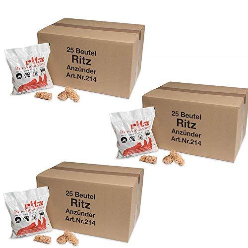 Ritz Bio Anzünder 975 Stück | Kaminanzünder | Holzanzünder | Grillanzünder | Brennholzanzünder | Holzkohle | Briketts | Kaminholz