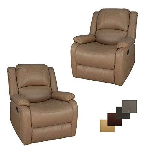 Set of 2 | RecPro Charles Collection | 30' Swivel Glider RV Recliner | RV Living Room (Slideout) Chair | RV Furniture | Glider Chair | Toffee