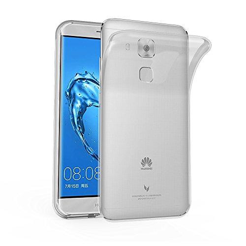 Cadorabo Funda para Huawei Nova Plus en Transparente - Cubierta Proteccíon de Silicona TPU Delgada e Flexible con Antichoque - Gel Case Cover Carcasa Ligera