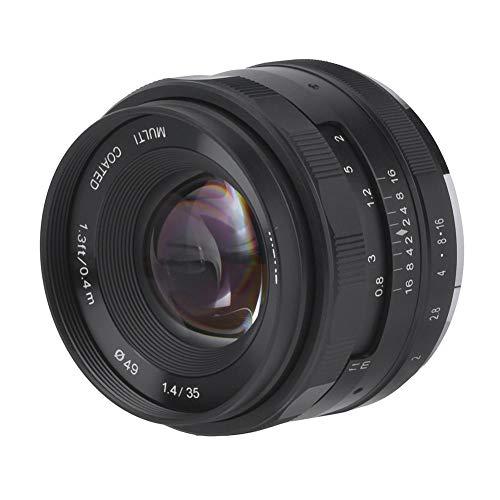 Topiky Lente de cámara sin Espejo, 35 mm F / 1.4 Cámara de fotografía de Retrato portátil Lente de Marco APS-C de Enfoque Principal Fijo, para Fujifilm X/para Sony E