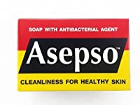 Asepso Original Hygeine Soap Antibacterial Antiseptic Healthy Body & Face 80g Pack 3 by Asepso