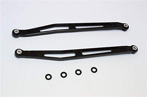 Axial SMT10 Grave Digger (AX90055) Upgrade Pièces Aluminium Front/Rear Upper Chassis Link Parts - 1Pr Set Black