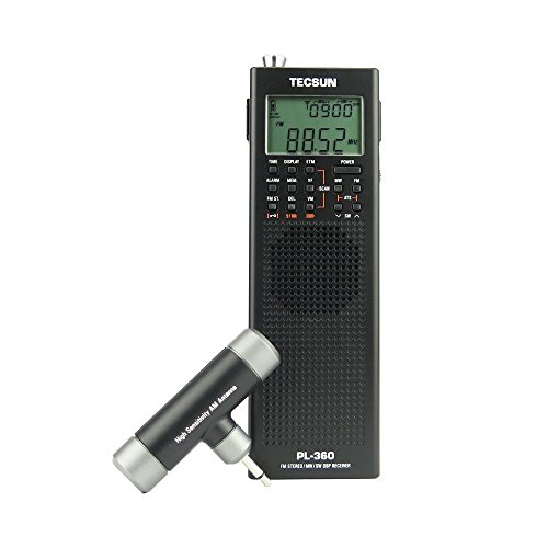 TECSUN Pl-360 Radio Digital PLL Portable Radio FM Stereo/LW/SW/MW DSP Receiver (BLACK)