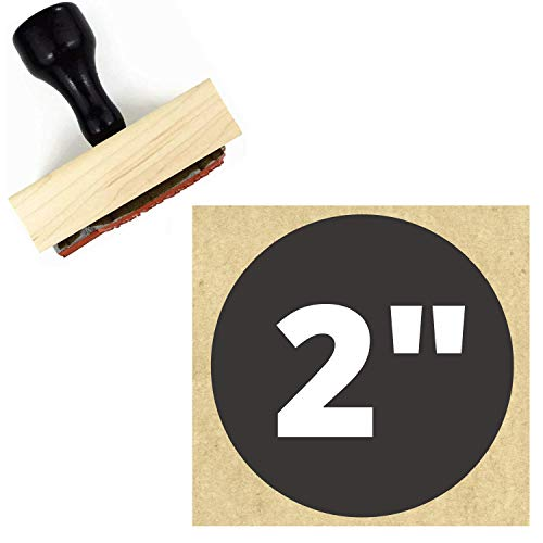 2' Large Logo Stamp - Custom Stamp - Personalized Wood Handle Business Stamp - Custom Round Text Business Stamp Large 1 2 or 3 Inch Stamper (2')