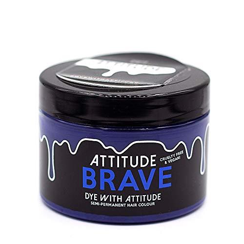 Attitude Haarfärbemittel - Semipermanenter Haarfarbstoff - mit Conditioner und Vegan - Farbe Brave Blau