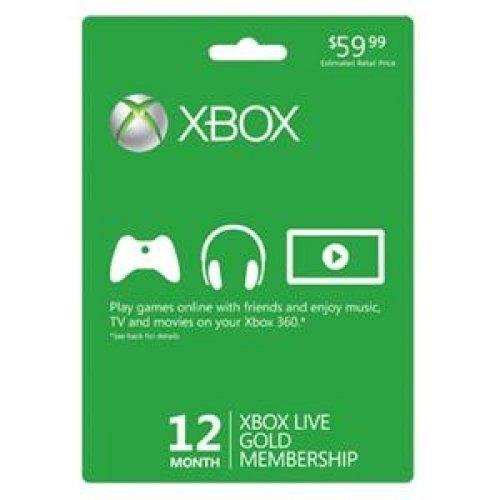 Microsoft Xbox LIVE 12 Month Gold Membership (Physical Card) by Excel