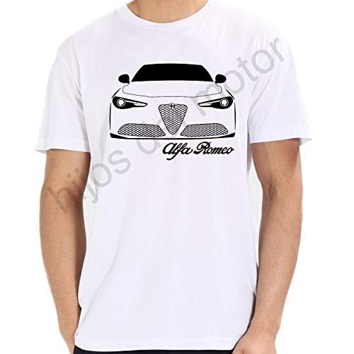 Camiseta Alfa Romeo Giulia (Blanco, XL)