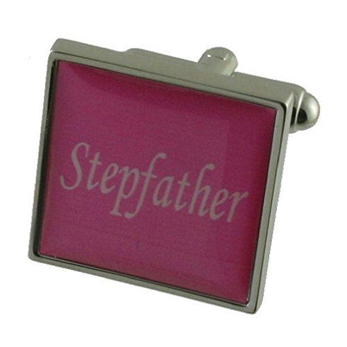 Le beau-père de couleur rose en Argent Sterling de manchette de Mariage