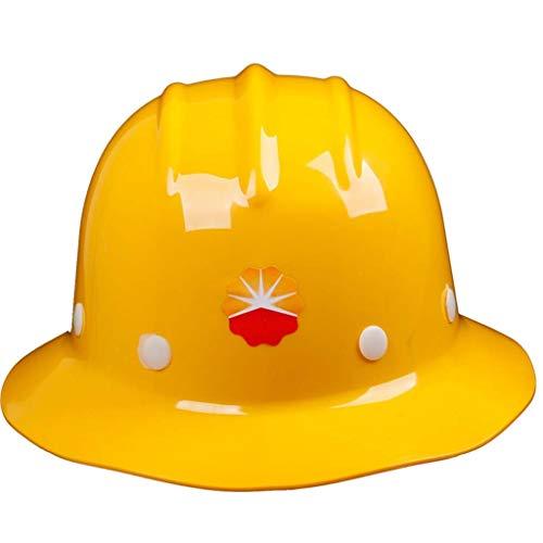 QWERTY Casco De Seguridad, Parasol Impermeable De ala Ancha del Sombrero Duro con Rayas Ajustables, Protección Trabajo De Construcción del Casco De Trabajador (Color : Yellow)