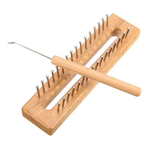 Kits de tissage pour enfants, outil de tissage artisanal de bricolage, métier à tisser, métier à tisser en bois massif métier à tisser écharpe portable, artisanat textile pour profiter du plaisir