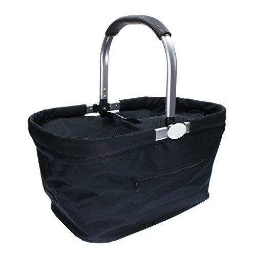 Carryking Einkaufskorb Kühlkorb mit Deckel Thermo Kühltasche Picknickkorb mit Kühlfach Isoliertasche mit Aluminiumgriff 30 Liter Volumen