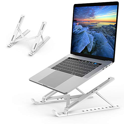 Laptop Stand Adjustable Ergonomic Laptop Mount Computer Stand Tablet Stand Foldable Portable Desktop Stand(Plastic)