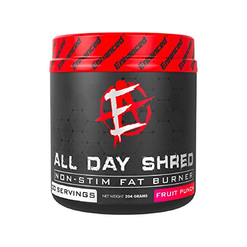 Enhanced Labs - All Day Shred Cutting Supplement for Men & Women - Thyroid Enhanced Fat Shredding Powder for 24-Hour Energy Support & Fat Cutting - Fruit Punch (204g) (30 Servings)