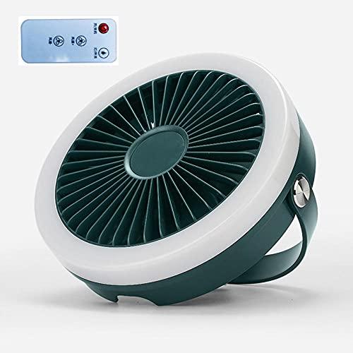 YYGQING Ventilador de techo con mando a distancia con USB, ventilador USB de 4 velocidades, para cama, camping, exterior, camping, tiendas de campaña, ventilador de escritorio (color 4000 mAh)