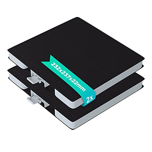 Kohlefilter 2 Stk Filter Ersatz für Bosch Balay 11026769 00705431 LZ53251 DHZ5326 Aktivkohlefilter 232x237mm Ersatzkohlefilter Ersatzfilter für Dunstabzugshaube Dunstabzugshaubenzubehör
