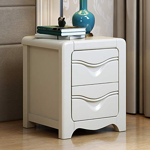 CAIXIN Wood Nightstand Bedroom Furniture,Retro Bed Side Sofa Table With 2 Drawers,Traditional Storage Cabinet,20x16x19inch