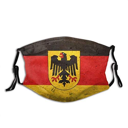 Grunge Flagge von Deutschland (Bundesland) Drucken Bandana Gesichtsdekorationen FA-Ce Co-Ver FA-Ce Mas-Ke Mit 2 Filtern