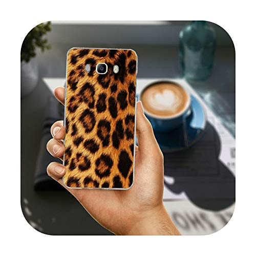 Phonecase - Carcasa para Samsung Galaxy A3, A5, A7, A8, J1, J3, J4, J5, J6, J7, J8, 2015, 2016, 2017, 2018, diseño de tigre y leopardo, para Galaxy J1 2016