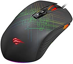 Mouse Gamer RGB Havit MS1019 Programável 7 Botões Resoluções 800-1600-2400-3200-4800-6400 DPI USB