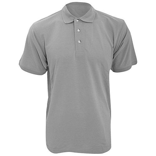 KUSTOM KIT KUSTOM KIT Workwear Herren Polo-Shirt, Kurzarm (S) (Grau meliert)