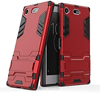 Cocomii Iron Man Armor Sony Xperia XZ1 Compact Case New [Heavy Duty] Premium Tactical Grip Kickstand Shockproof Bumper [Military Defender] Full Body Rugged Cover for Sony Xperia XZ1 Compact (I.Red)
