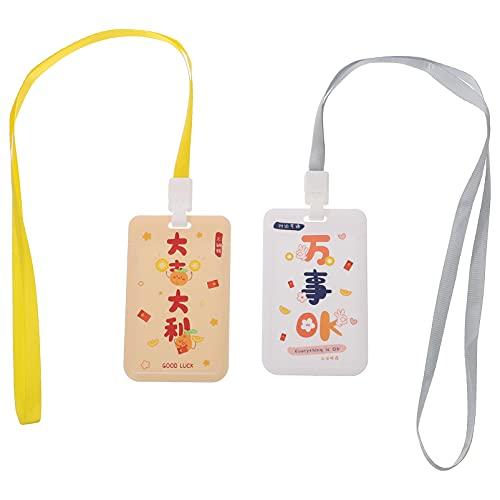 STOBOK 4Pcs ID- Kort Namn Badge Innehavare Med Genomskinligt Fönster ID- Kort Namn Badge Innehavare Skol Kontor Leveranser Arbete Märker