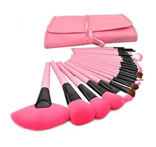 Gearmax® 24 pièces de Set de pinceaux Brosse Brush Set pinceaux Maquillage, Sac Rose