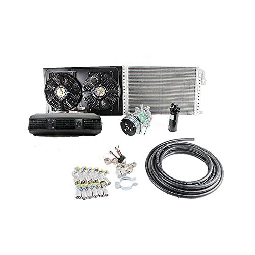 Kit de ventilación de evaporador de aire acondicionado de CA Universal de 12V24V para camión, camión, tractor, Jeep Street/Hot Rod, aire acondicionado de coche clásico (Refrigeración 24V)