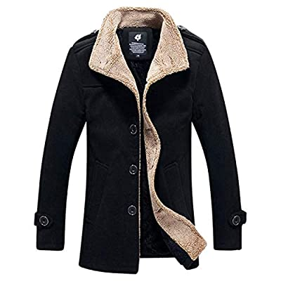 TIFENNY Autumn Lambs Wool Cardigan for Mens Winter Outdoor Warm Thickened Fleece Coat Jacket Top Blouse