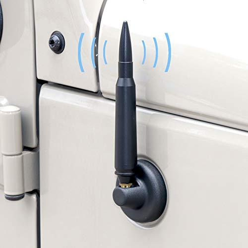 Sukemichi Aluminum Alloy Short Bullet Radio Antenna for Jeep Wrangler