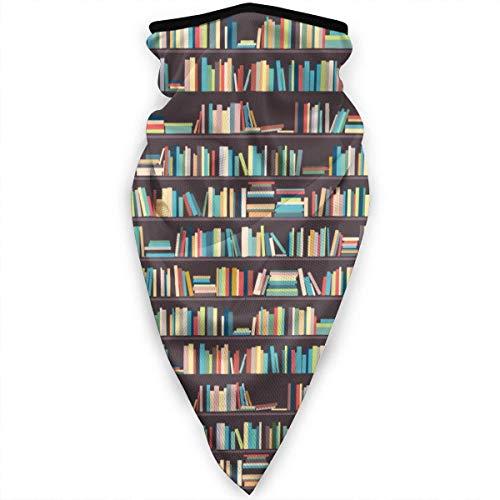 SGDSGSG Librería Estantes Biblioteca Cuello Polaín Calentador Bufanda a prueba de viento Deportes Bandana Sol UV Protección contra el polvo del viento Al aire libre Correr