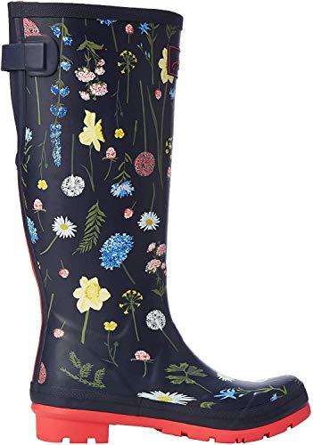 Tom Joule Damen Welly Print Gummistiefel, Blau (Navy Spring Flowers Navsprflrl), 37 EU