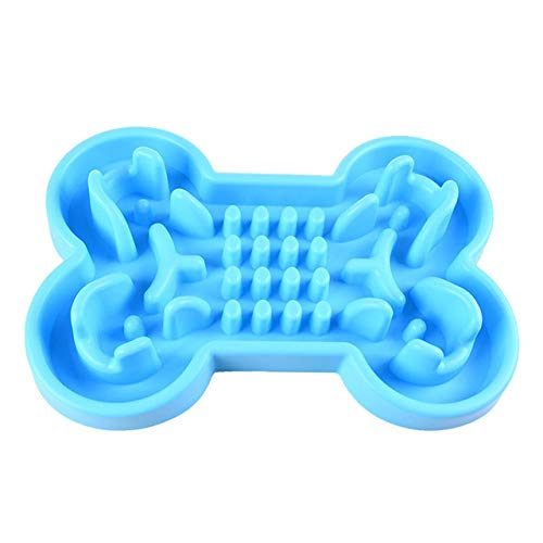 MYYXGS Pet Fun Feeder Hundenapf Slow Feeder, Aufblasbare Hundefutterschale Maze Interactive Puzzle Cat Bowl Anti-Rutsch