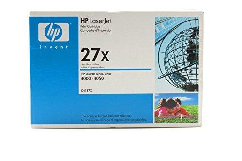 HP C4127X / 27X - Cartucho de tinta original para Laserjet 4000 Series (10000 páginas), color negro