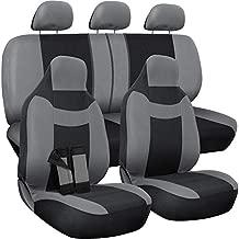Motorup America Gray/Black Auto Seat Cover - Full Set - Fits Select Vehicles Car Truck Van SUV