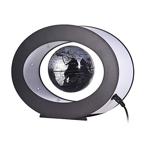 SCKL Magnetic Levitation Earth-Globus, 3-Zoll-Desktop-Globus Mit LED-Weißlicht-Ovaler Form-Unterseite Für Innenministerium-Schreibtisch-Dekoration