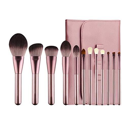 Pinceau de maquillage LHY- 12 Paquets de, Les Cheveux Doux, Doux en Poudre, Fard à paupières Brosse, Brosse de Maquillage Professionnel Mode (Color : Pink b)