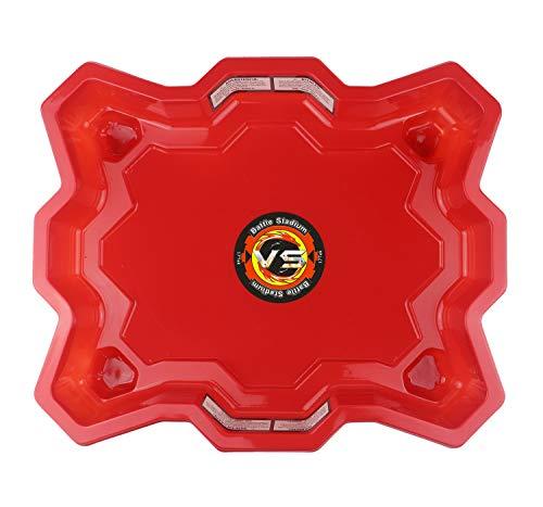 17Tek Bey Stadium Battle Arena Training Ground Super Vortex Attack Type for Beyblade Burst (Red)