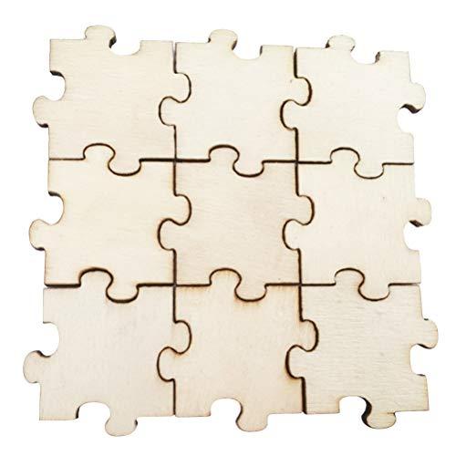 Healifty 100 Puzzles aus Holz, unfertigt, Puzzle, Basteln, Puzzleteile aus Holz, Ausschnitte für Basteln, Handwerk, Kunst, Verriegelung, Karte, Schild