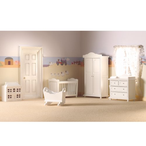 Dolls House 5961 Chambre d'enfants blanc 5 Pièces 1:12 pour maison de poupée