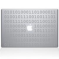 The Decal Guru バイナリー デカール ビニールステッカー 15インチ MacBook Pro (2015年以降モデル) シルバー (1409-MAC-15P-S)