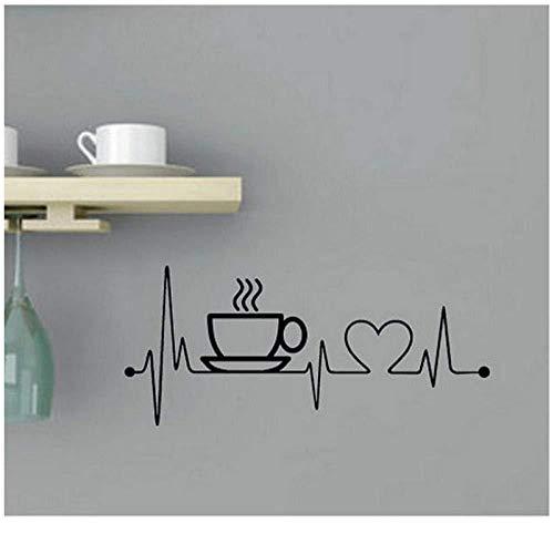 Etiqueta Pared Kitchen Artist Home Decorated Creative Coffee Cup Vinyl 26X58 Cm